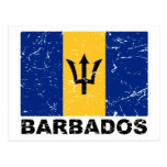 Bandera del vintage de Barbados Postal