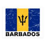 Bandera del vintage de Barbados Tarjetas Postales