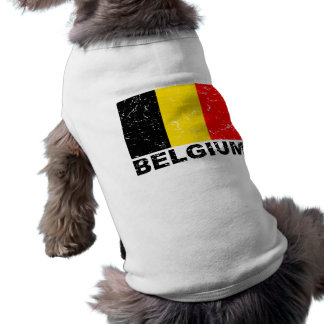 Bandera del vintage de Bélgica Playera Sin Mangas Para Perro