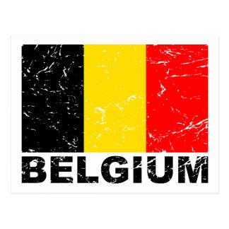 Bandera del vintage de Bélgica Postales