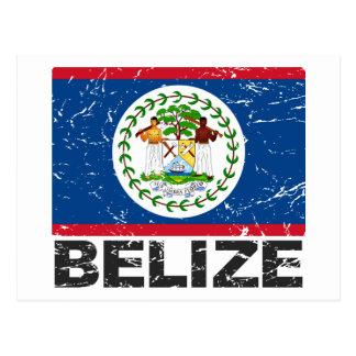 Bandera del vintage de Belice Postales