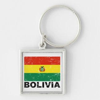 Bandera del vintage de Bolivia Llavero Personalizado
