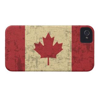 Bandera del vintage de Canadá apenada Case-Mate iPhone 4 Cárcasas