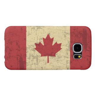 Bandera del vintage de Canadá apenada Fundas Samsung Galaxy S6