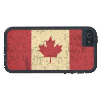 Bandera del vintage de Canadá apenada iPhone 5 Funda