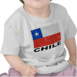Bandera del vintage de Chile Camisetas