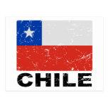 Bandera del vintage de Chile Tarjeta Postal