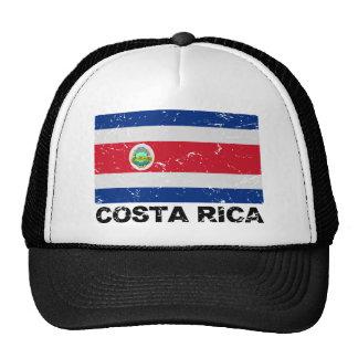 Bandera del vintage de Costa Rica Gorros