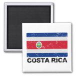 Bandera del vintage de Costa Rica Imán Cuadrado