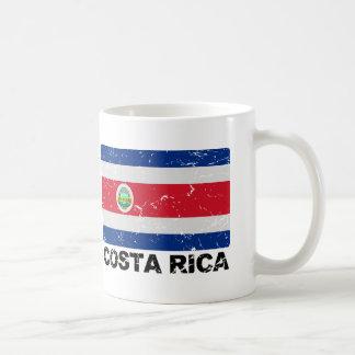 Bandera del vintage de Costa Rica Tazas