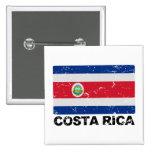 Bandera del vintage de Costa Rica Pin