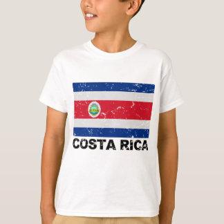 Bandera del vintage de Costa Rica Playera