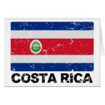 Bandera del vintage de Costa Rica Tarjeta De Felicitación
