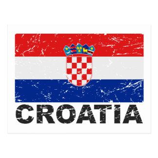 Bandera del vintage de Croacia Postal