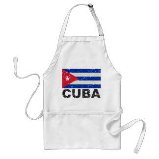 Bandera del vintage de Cuba Delantal