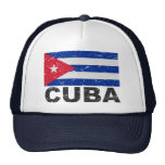 Bandera del vintage de Cuba Gorro De Camionero