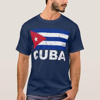 Bandera del vintage de Cuba Playera