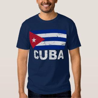Bandera del vintage de Cuba Playeras