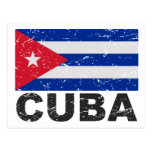 Bandera del vintage de Cuba Postal
