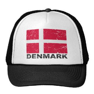 Bandera del vintage de Dinamarca Gorro De Camionero