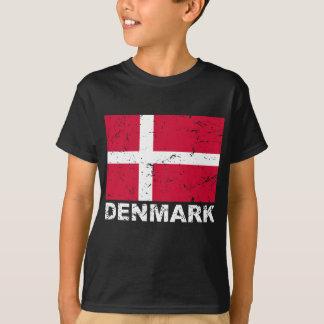 Bandera del vintage de Dinamarca Playera