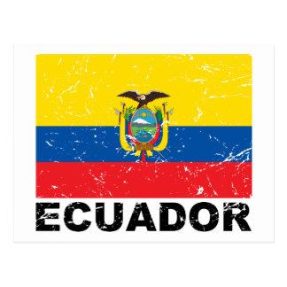 Bandera del vintage de Ecuador Postal