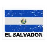 Bandera del vintage de El Salvador Postal