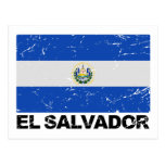 Bandera del vintage de El Salvador Postales