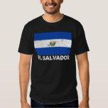 Bandera del vintage de El Salvador Remera