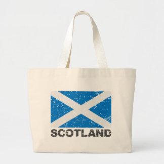 Bandera del vintage de Escocia Bolsa Lienzo