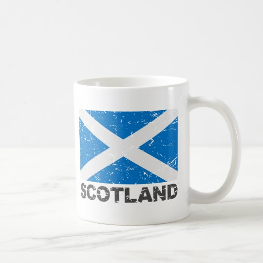 Bandera del vintage de Escocia Taza De Café