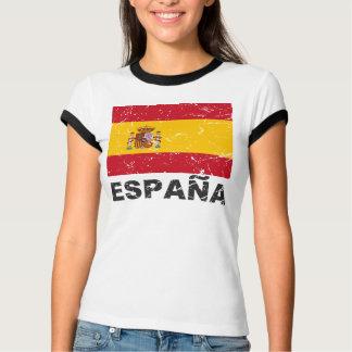 Bandera del vintage de España Playeras