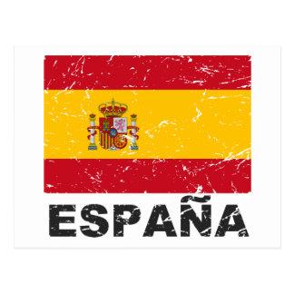 Bandera del vintage de España Postal