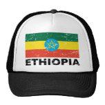 Bandera del vintage de Etiopía Gorros Bordados