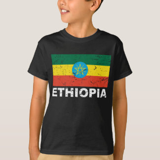 Bandera del vintage de Etiopía Playera