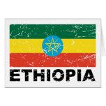 Bandera del vintage de Etiopía Tarjetas