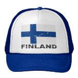 Bandera del vintage de Finlandia Gorro De Camionero