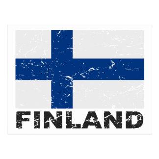 Bandera del vintage de Finlandia Postales
