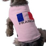 Bandera del vintage de Francia Playera Sin Mangas Para Perro