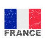 Bandera del vintage de Francia Postales