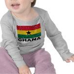 Bandera del vintage de Ghana Camisetas