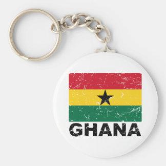 Bandera del vintage de Ghana Llavero Redondo Tipo Pin