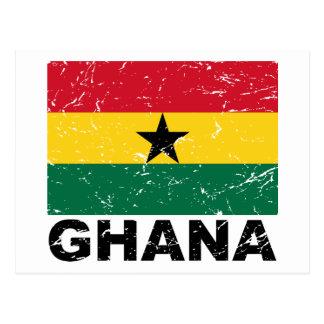Bandera del vintage de Ghana Tarjetas Postales