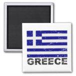 Bandera del vintage de Grecia Iman De Nevera