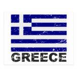 Bandera del vintage de Grecia Postal