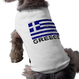 Bandera del vintage de Grecia Camisa De Perrito