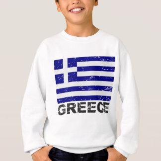 Bandera del vintage de Grecia Sudadera