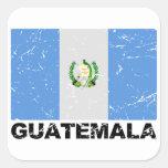 Bandera del vintage de Guatemala Colcomanias Cuadradas