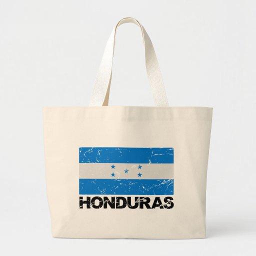 Bandera del vintage de Honduras Bolsas Lienzo