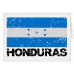 Bandera del vintage de Honduras Felicitacion